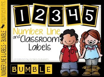 Labels - Number Line and Class Labels BUMBLE
