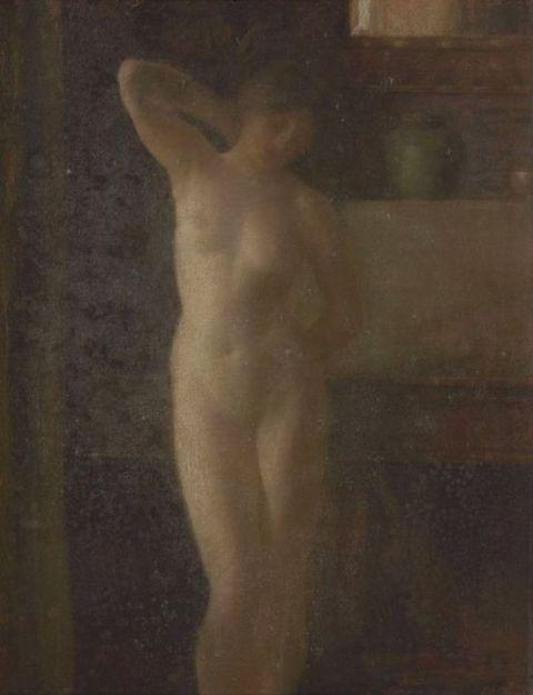 Réne Ménard - Nu dans un intérieur (étude)