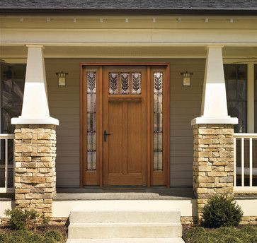 Craftsman Style Front Door -US Door & More Inc Solid Panel Classic-Craft Rustic Collection Door - Exterior - Tampa -
