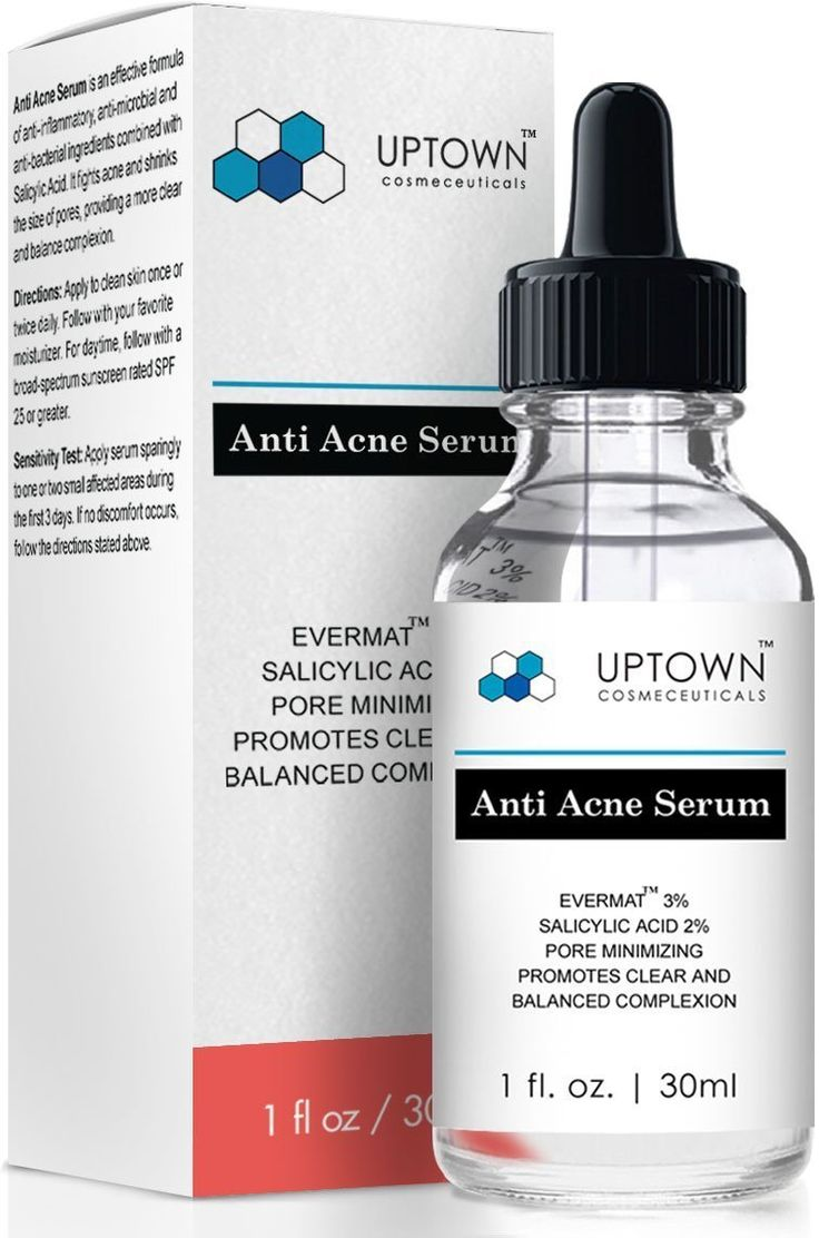 Anti Acne Serum for Men, Women and Teens From Uptown Cosmeceuticals Offers Cutting Edge Skin Care Product that helps to Reduce Acne & Minimize Pores, 30ML. #30ML, #AntiAcneSerumForMen, #UptownCosmeceuticals #Acne Uptown Cosmeceuticals Anti Acne Serum is a potent formula of anti-inflammatory, anti-microbial and anti-bacterial ingredients combined with Salicylic Acid. It takes over that hostile skin providing a clearer and balanced complexion. It fights acne and shrinks the si