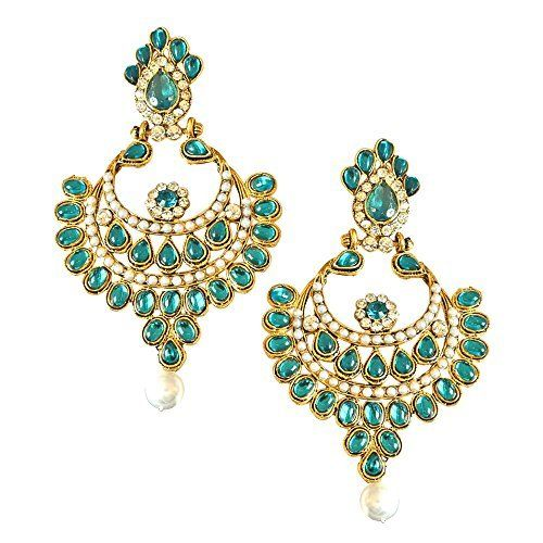 Best Valentine Gifts : YouBella Jewellery Gold Plated Fancy Party Wear Earrings for Girls and Women