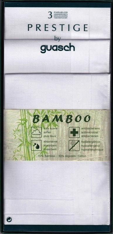Caja con 3 pañuelos Bamboo - Caja clásica con 3 pañuelos confeccionados en 70% Bambú y 30% Algodón - Rematados a máquina y un tamaño de 43x43 cm - Ref: 170.52P. #regalos #hombre http://www.varelaintimo.com/43-panuelos