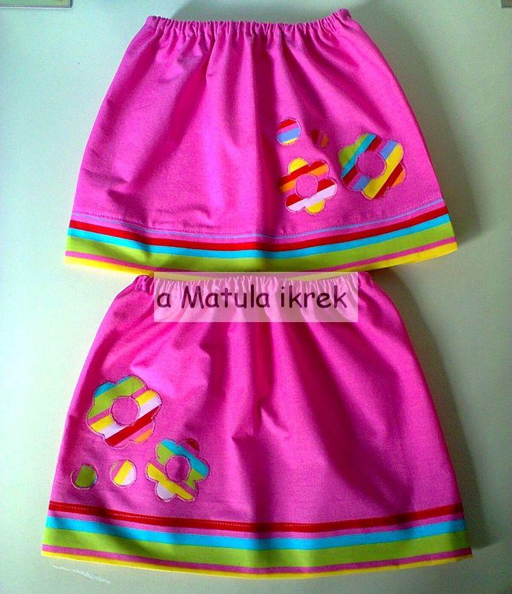 a Matula ikrek blogja: virágos szoknyák ikreknek/ floral applique skirts for twins