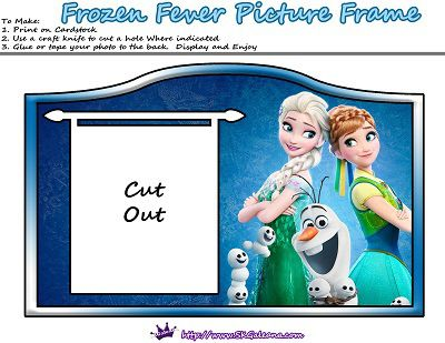 frozen fever free printables and crafts skgaleana - Disney Frozen Picture Frames