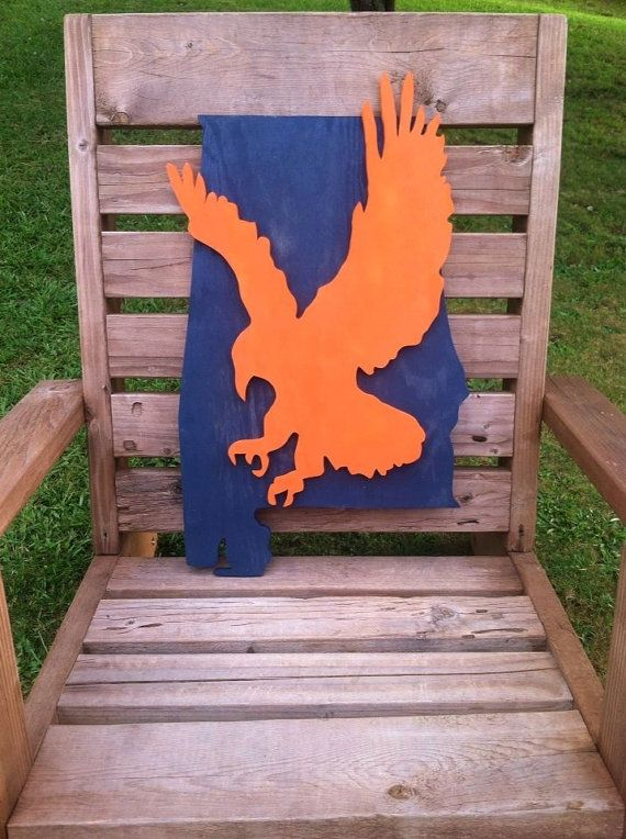 Auburn Sign, State of Alabama, War Eagle, Auburn Tigers, Alabama Sign, WDE, Football Sign, Dorm Decor, School, Mascot