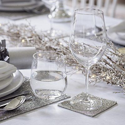 Silver Beaded Coasters - Set of 4 | Table Linen & Accessories | Home Accessories | Home | The White Company UK