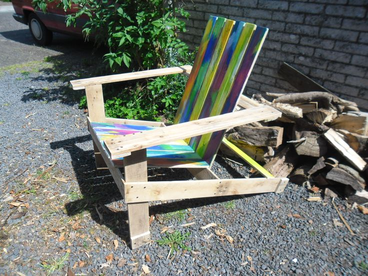 colorful garden chair