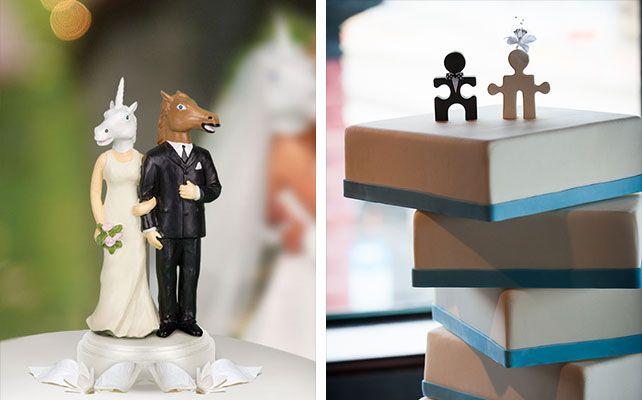 необычные и забавные фигурки для свадебного торта