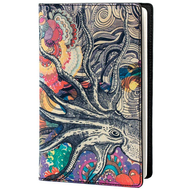 COLOURS OF MY LIFE   Notebook Cover.  Designer Limited Edition; #WomenLeatherNotebookCover #LuxuryNotebookCover #DesignerNotebookCoversUK