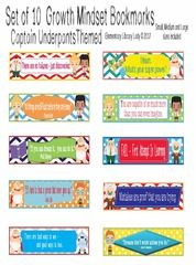 Captain Underpants Growth Mindset Bookmarks/Labels - I'm just starting a new theme, Captain Underpants.  Please register for a giveaway of my new Growth Mindset bookmarks/labels/cards, both with Growth Mindset phrases and blank for use.  Includes an editable .PPT file.  Please follow my shop - I'm always creating!.  A GIVEAWAY for Captain Underpants Growth Mindset Bookmarks, Shelf Markers or Desk Name Plates - EDITABLE from Elementary Library Lady on TeachersNotebook.com (ends on 6-26-2017)
