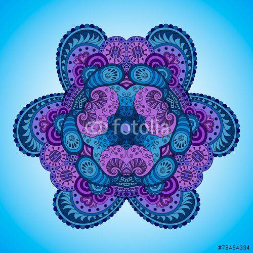 Вектор: Blue-violet mandala.