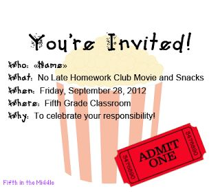 No Late Homework Club- great initiative!