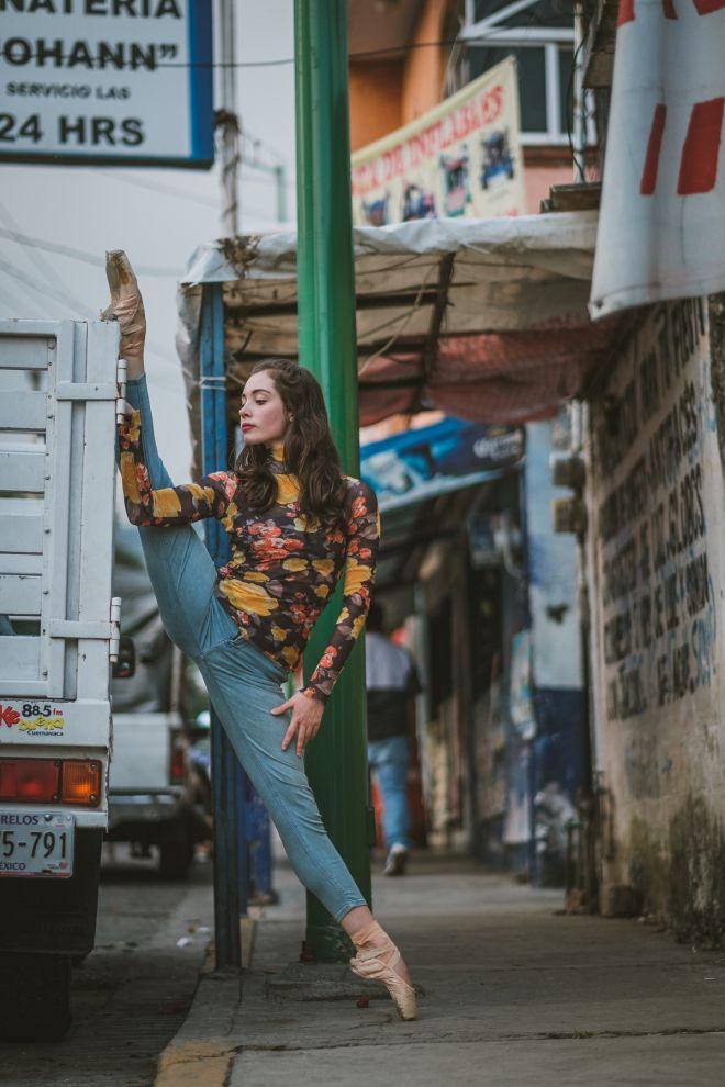 Bailando por sobre el caos: increíbles imágenes de bailarinas de ballet en la Ciudad de México
