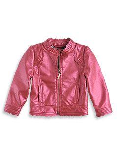Spring collection 2013. Girl fashion Metalic PU Jacket