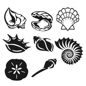 Different Beach Seashells Collection Cuttable Design Cut File. Vector, Clipart, Digital Scrapbooking Download, Available in JPEG, PDF, EPS, DXF and SVG. Works with Cricut, Design Space, Sure Cuts A Lot, Make the Cut!, Inkscape, CorelDraw, Adobe Illustrator, Silhouette Cameo, Brother ScanNCut and other compatible software.