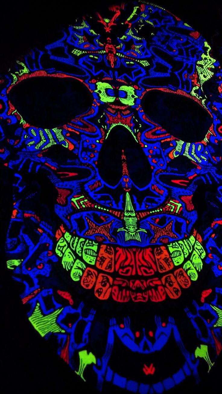 Painting Skulls with UV Colours :) * In progress....   https://www.facebook.com/PsyFlyDreamcatchers
