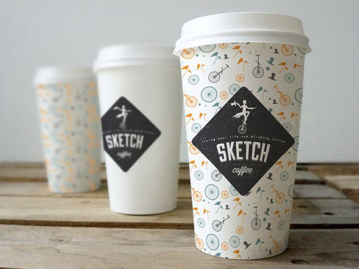 'Sketch' Coffee cup branding
