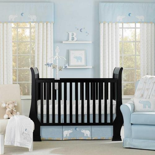 Animal And Stars Themed Light Blue 4p Neutral Baby Boy Nursery Bedding Set Ebay