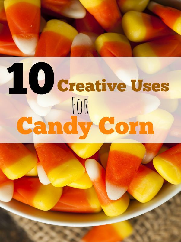 10 Creative Uses for Candy Corn from crafts to treats! This Halloween special candy can provide a lot of fun!