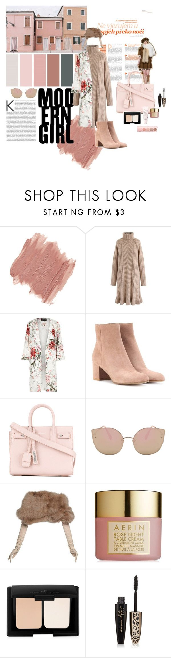 """""""Untitled #102"""" by nashrinsabila on Polyvore featuring NYX, Chicwish, River Island, Gianvito Rossi, Yves Saint Laurent, Nina Ricci, AERIN, L'Oréal Paris and 100% Pure"""