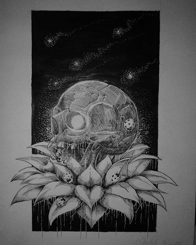 Done work. If interesting please dm or terror at blckcldart@gmail.com #artwork #illustration #drawing #inked #line #darkart #blackwork #iblackwork #penandink #skull #blackandwhite #artdesign #blackdesign