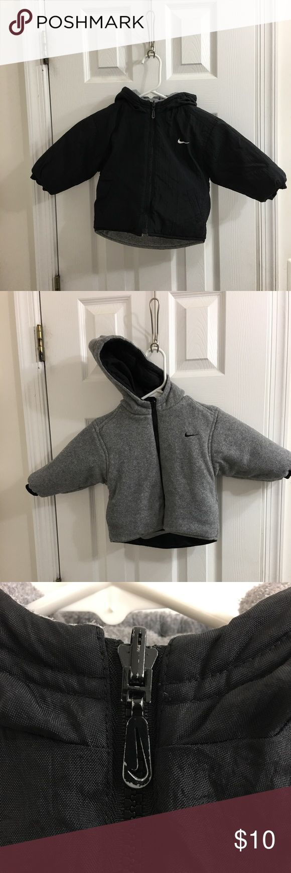 Boys Reversible Nike coat Very thick and warm, reversible, size 2t, good condition with some wear on zipper (see pictures) Jackets & Coats
