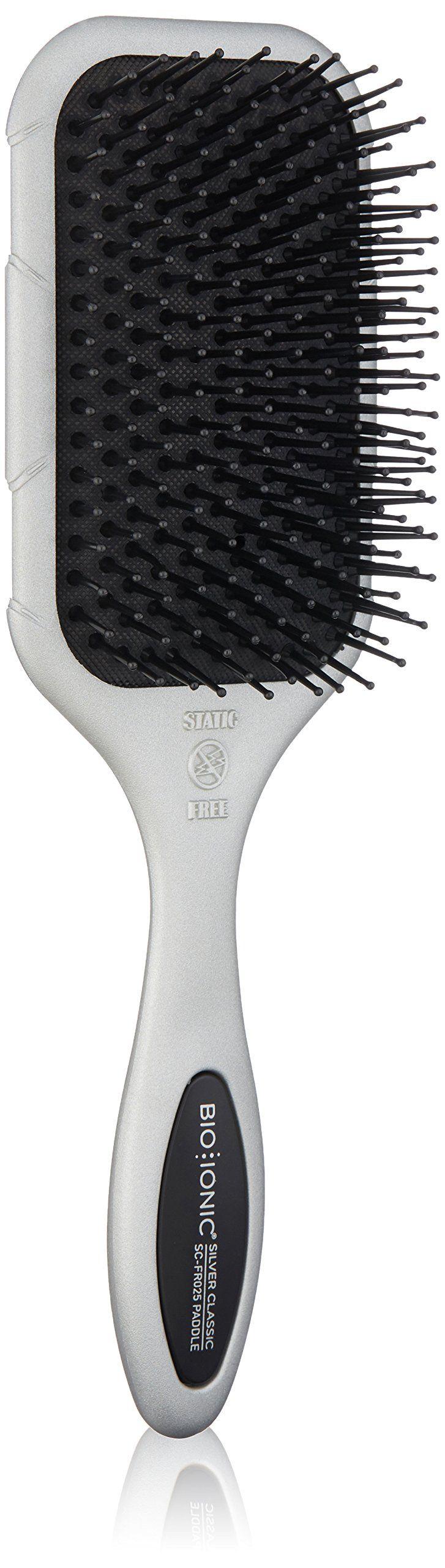BIO IONIC Silver Classic Nanoionic Conditioning Brush, Paddle