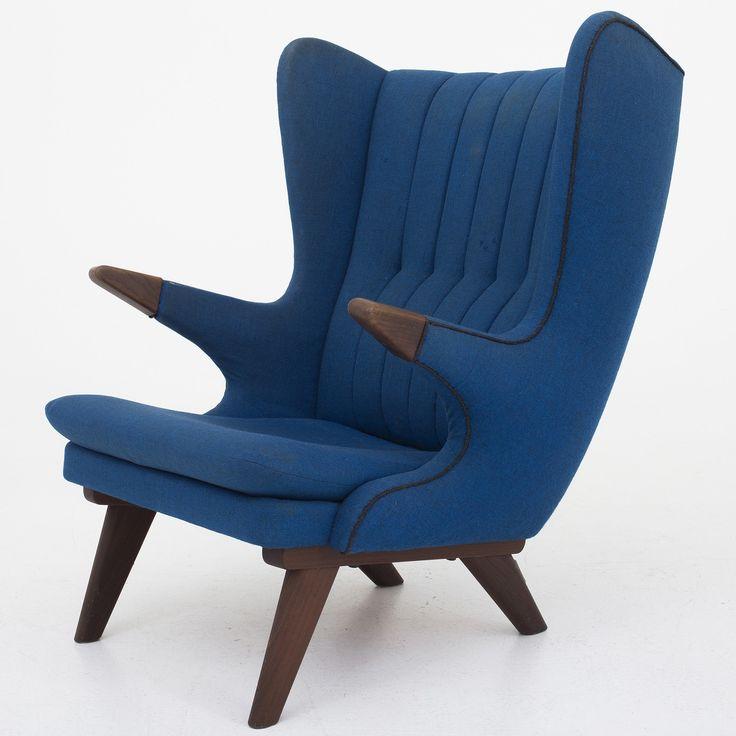 Lounge chair in teak