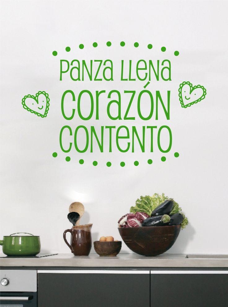 Panza llena ♥ contentO — Casa Felice Detalles del producto  y precio en http://tienda.casafelice.com.ar/cocina/panza-llena-contento/