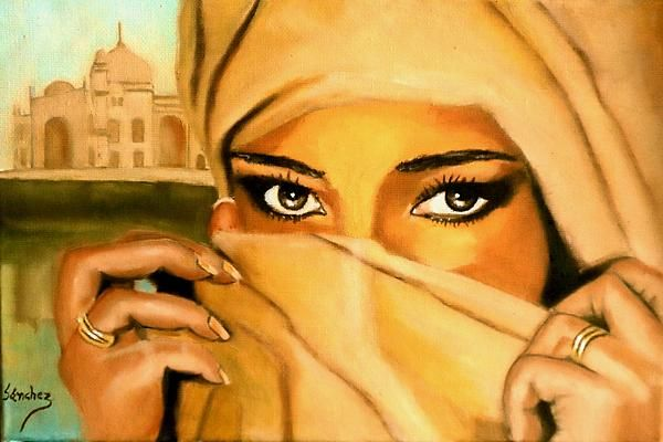 A gorgeous painting by Manuel Sanches. I just love his style. This one is titled Al-andalus-3.