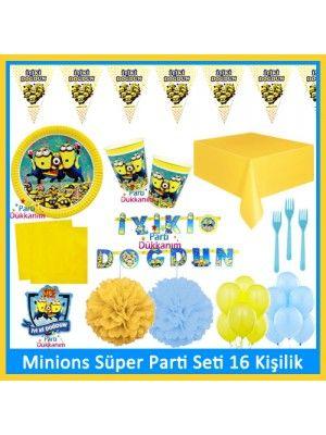 Minions Süper Parti Seti (16 Adet)