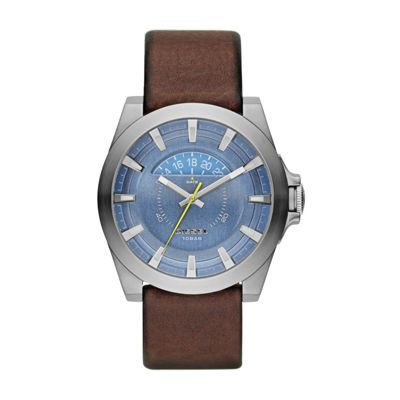 Diesel Men's brown leather strap watch- at Debenhams.com