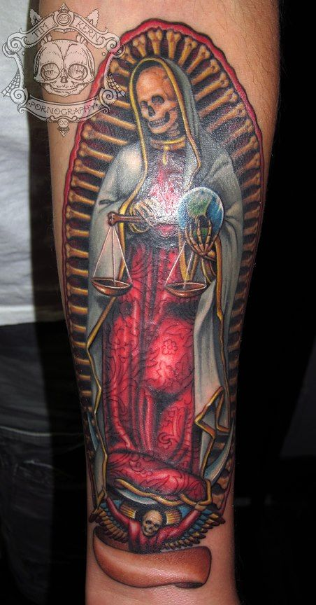 Tim Kern santa muerte tattoo