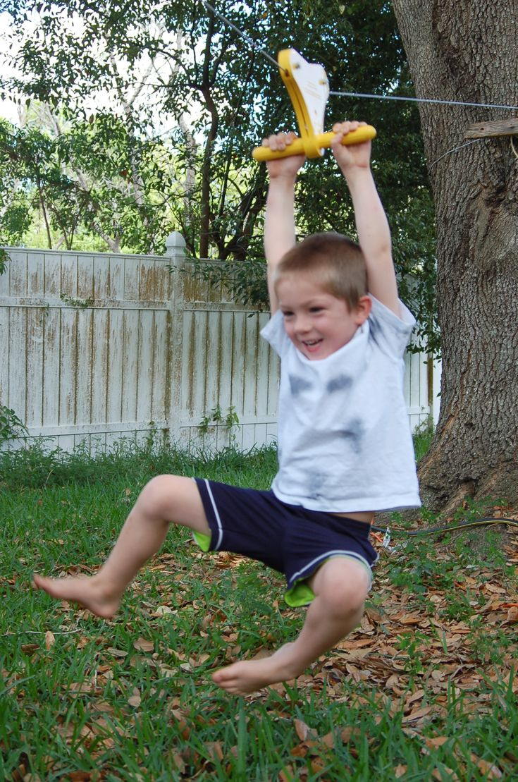 Building a zip line in your back yard