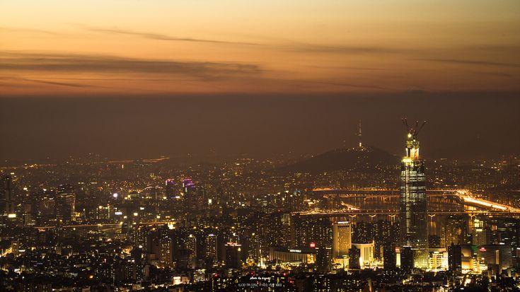 남한산성에서본 서울의 잠실