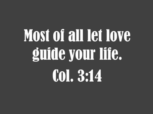 Bible verse about the importance of love in your life.