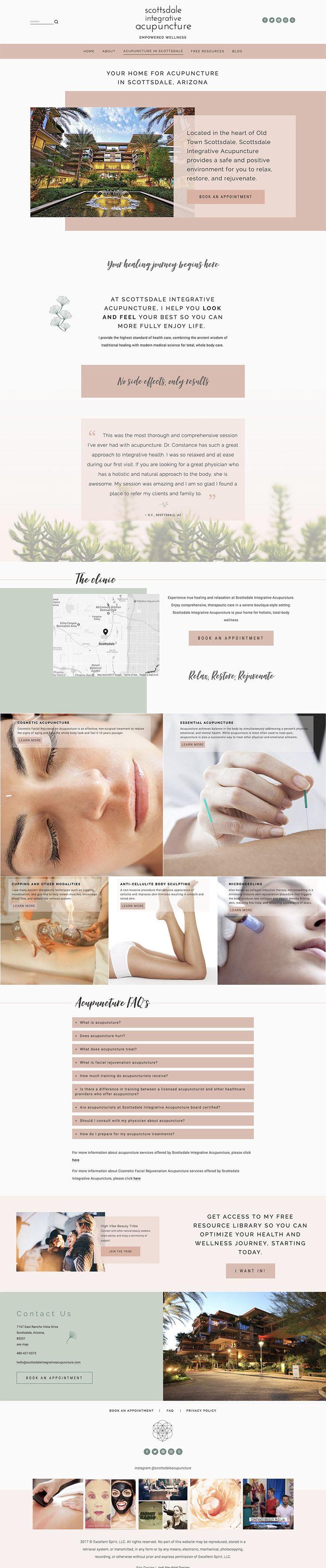 Services page design | Squarespace web design for acupunture studio | Jodi Neufeld Design