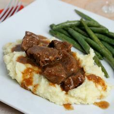 Slow cooker steak and gravy. Super easy to make. I will admit, this is not my picture (I forgot to take one), but looks similar. I used about 1.75 pounds of top sirloin steak. It's cheap, but tough to eat. Slightly brown all sides of your steak in a pan with olive oil. Add salt and pepper to both sides of your steak after browned. Spray crock pot with pam. Add steaks. On top, splash with some worshtishire sauce and a can of beef broth. Add a little water if needed to slightly cover your…