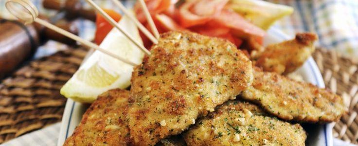 Petto di pollo al forno impanato