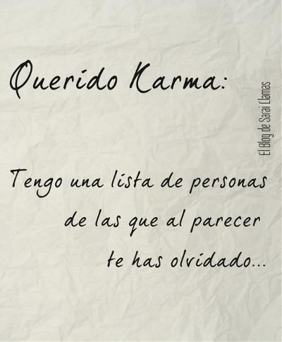"""Trans: """"Dear Karma: I have a list of people that it seems you've overlooked."""""""