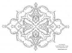 Arte islámico- Tazhib persa estilo Toranj