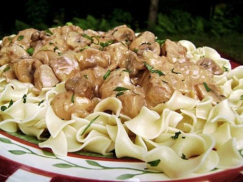 Skillet Pork Tenderloin Stroganoff Made with Pork Loin. Tender and makes enough to feed a family of five. Thumbs up from everyone.