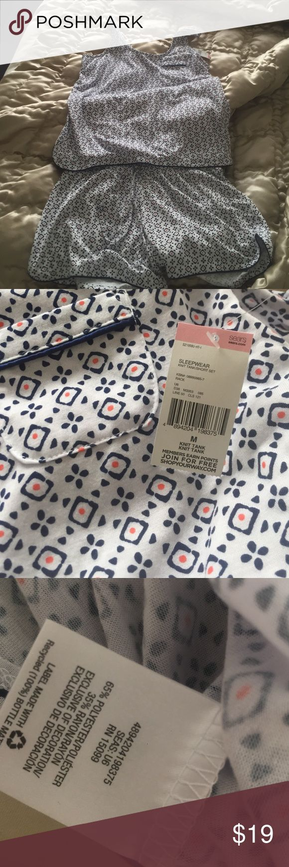 Women's PJ Set Never worn with tag still attached. PJ Set. Short and tank top. Size M. no pay pal. no trades no exchanges. no refunds.  Covington Intimates & Sleepwear Pajamas