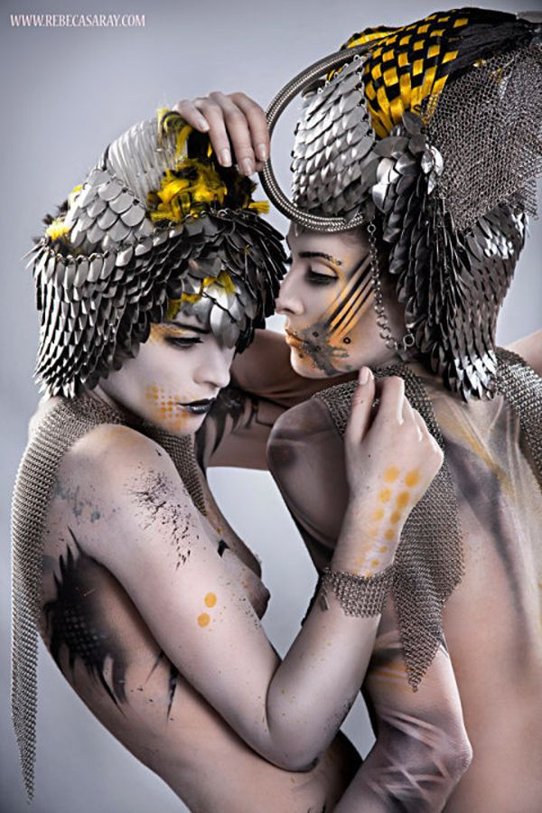 Bodypainting for Rebeca Saray by Creative Studio Kimatica - ego-alterego.com