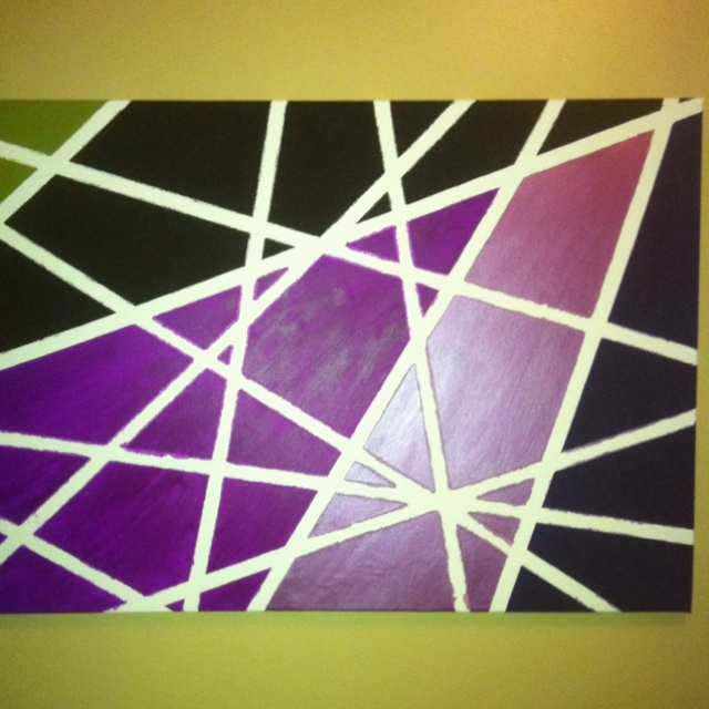 Painting Ideas With Tape: Canvas, Paint And Masking Tape