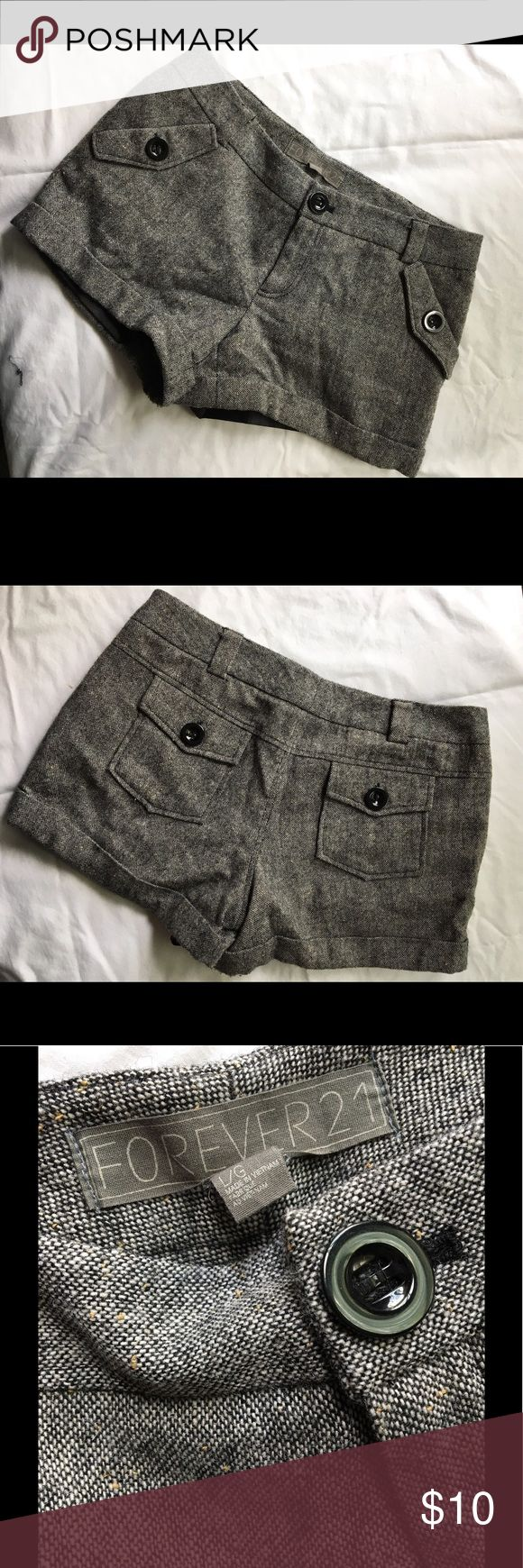 Tweed shorts Black and white tweed shorts. Forever 21 Shorts