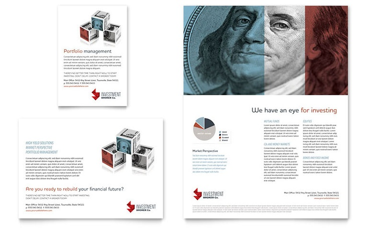 Investment Bank Flyer & Ad Template Design