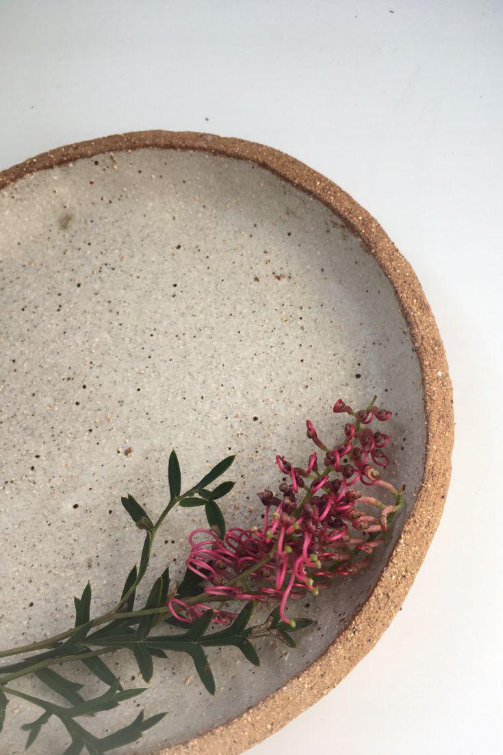 earthy stoneware side plate