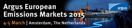 Argus European Emissions Markets 2015 Conference at Mövenpick Hotel, Piet Heinkade 11, Amsterdam, 1019 BR, Netherlands, on 04-05 March, 2015 at 9:00 am - 6:00 pm. This year's event will once again bring together industry leaders, regulators and market facilitators from across the continent to discuss the latest developments in the European emissions market. Booking: http://atnd.it/17383-1. Category: Conferences. Price: £895-$1,915. Speakers: Carsten Schirmeisen, Tom Young, Eric Boonman…