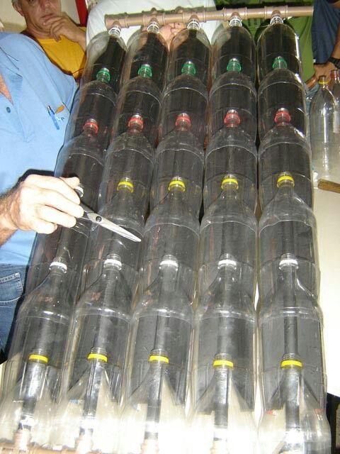 Plastic bottles solar heat                                                                                                                                                                                 More